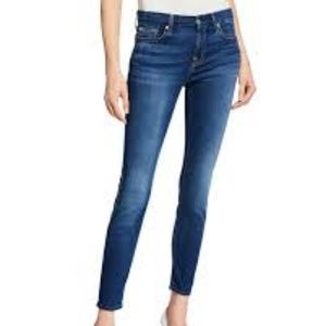 7 For All Mankind Dark Wash Ankle Skinny 28